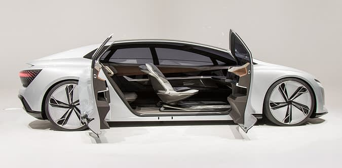 Concept car with modular interior